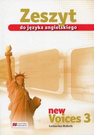 New Voices 3. Zeszyt do języka - okładka podręcznika