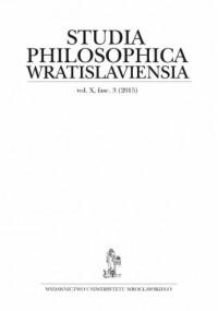 Studia Philosophica Wratislaviensia. Vol. X, fasc. 3 (2015) - okładka książki