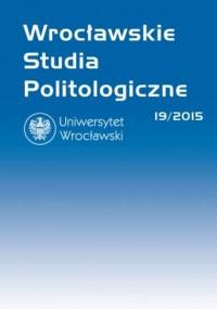 Wrocławskie Studia Politologiczne 19/2015 - okładka książki