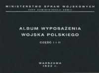 Album wyposażenia Wojska Polskiego - okładka książki