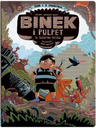 Binek i Pulpet w świątyni Majów - okładka książki