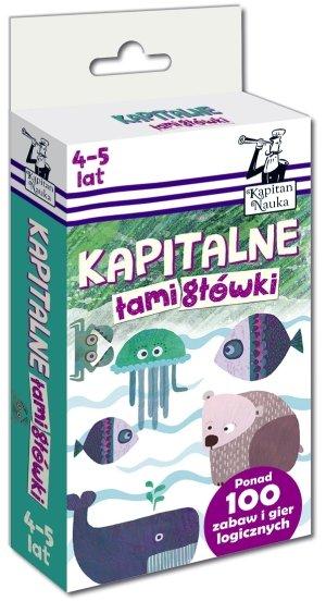 Kapitalne łamigłówki (4-5 lat) - okładka książki