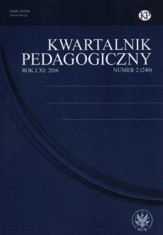 Kwartalnik Pedagogiczny 2/2016 - okładka książki