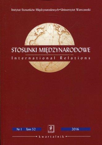 Stosunki Międzynarodowe 2016 Nr - okładka książki