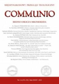 Communio nr 3-4(191-192)/2015. Biedni i oblicza miłosierdzia - okładka książki