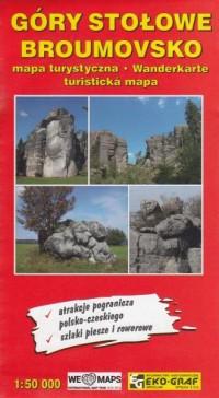 Góry Stołowe Broumovsko mapa turystyczna - okładka książki