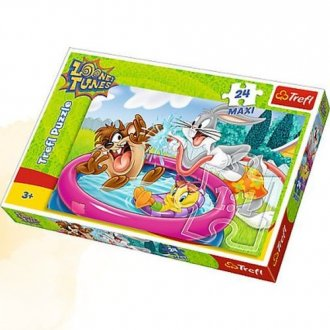 Kąpiel w ogrodzie (puzzle maxi - zdjęcie zabawki, gry