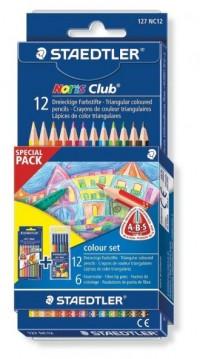 Kredki trójkątne triplus slim (12 kolorów z flamastrami) - zdjęcie produktu