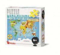 Mapa Świata (puzzle 100-elem.) - zdjęcie zabawki, gry