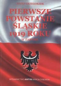Pierwsze Powstanie Śląskie w 1919 - okładka książki