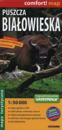 Puszcza Białowieska mapa turystyczna - okładka książki