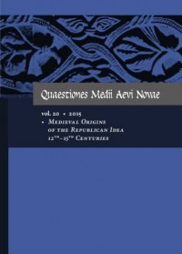 Quaestiones Medii Aevi Novae. Vol. 20 / 2015. Medieval Origins of the Republican Idea 12th-15th Centuries - okładka książki