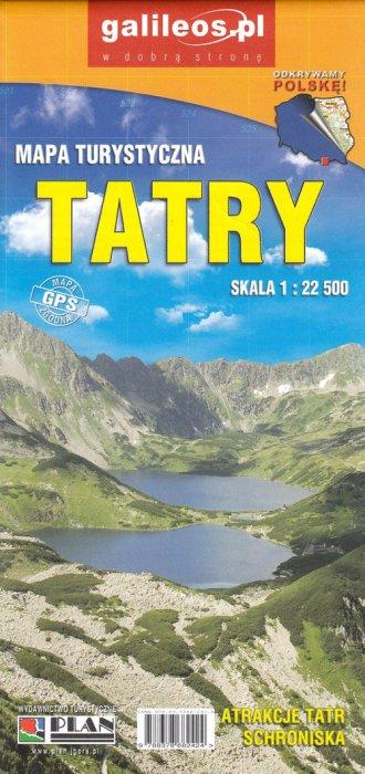 Tatry 1 (skala :22 500) - okładka książki