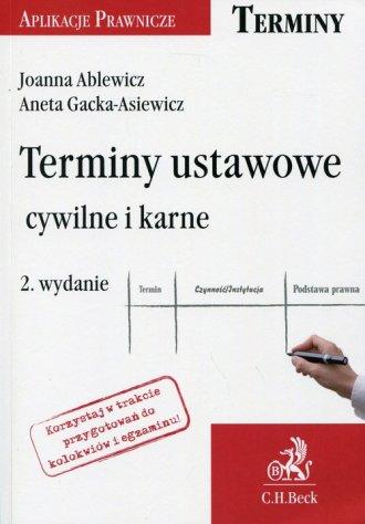 Terminy ustawowe, cywilne i karne. - okładka książki