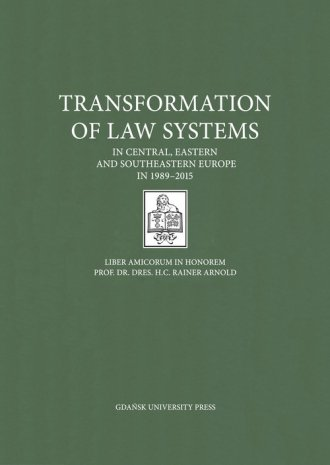 Transformation of Law Systems in - okładka książki