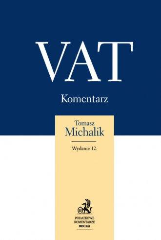 VAT. Komentarz - okładka książki