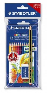 Zestaw kredek Noris Club (12 kolorów + ołówek i gumka) - zdjęcie produktu