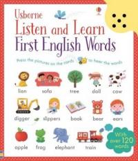 Listen and Learn. First English Words - okładka książki
