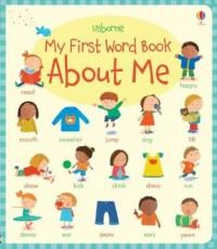 My First Word Book About Me - okładka książki