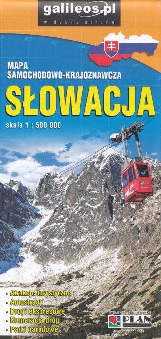 Słowacja (skala 1:500 000) - okładka książki