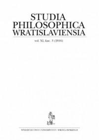 Studia Philosophica Wratislaviensia Vol. XI, fasc. 3 (2016) - okładka książki