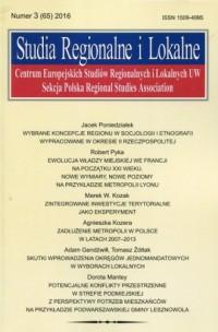 Studia Regionalne i Lokalne 3/2016 - okładka książki