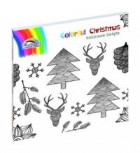 Colorful Christmas. Książka do kolorowania - okładka książki
