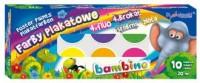Farby plakatowe bambino (10 kolorów) - zdjęcie produktu