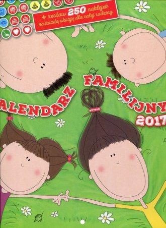 Kalendarz 2017. Familijny z naklejkami - okładka książki