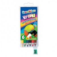Kredki bambino drewniane z temperówką (6 kolorów) - zdjęcie produktu