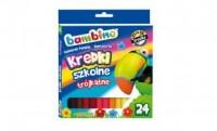 Kredki bambino trójkątne (24 kolory) - zdjęcie produktu