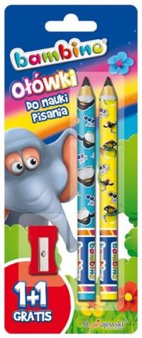 Ołówki do nauki pisania bambino z temperówką - zdjęcie produktu