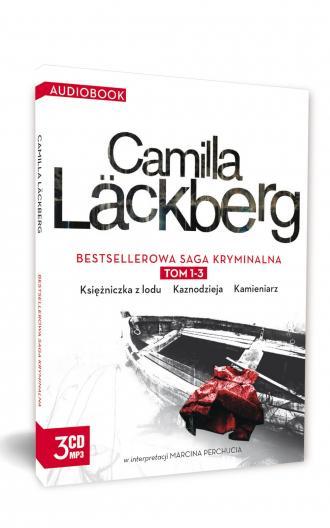 Camilla Lackberg. Tom 1-3 (CD). - okładka płyty