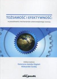Tożsamość i efektywność w poszukiwaniu mechanizmów zrównoważonego rozwoju - okładka książki
