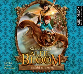 Alfie Bloom i złodziej talizmanu. - pudełko audiobooku