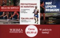 Biegaj bez kontuzji / Bądź lepszym biegaczem / Przygotowanie do maratonu. PAKIET 3 KSIĄŻEK - okładka książki