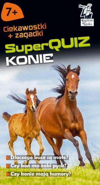 Kapitan Nauka. SuperQuiz Konie - okładka książki