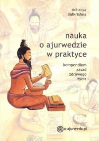Nauka o ajurwedzie w praktyce - okładka książki