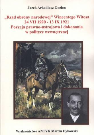 Rząd obrony narodowej Wincentego - okładka książki