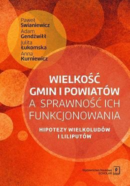 Wielkość gmin i powiatów a sprawność - okładka książki
