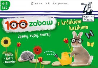 Kapitan Nauka. 100 zabaw z królikiem - okładka książki