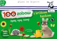 Kapitan Nauka. 100 zabaw z królikiem Kazikiem - okładka książki