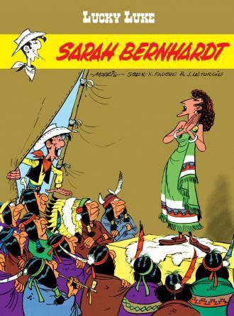 Lucky Luke. Sarah Bernhardt - okładka książki