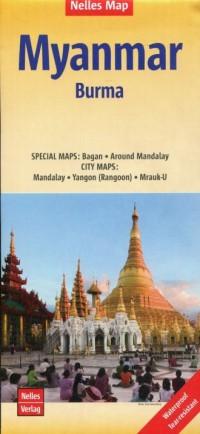 Myanmar Burma Mapa 1:1 500 000 - okładka książki