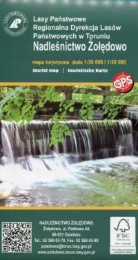 Nadleśnictwo Żołędowo mapa turystyczna 1:30 000 - okładka książki