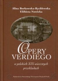 Opery Verdiego w polskich XIX-wiecznych przekładach - okładka książki