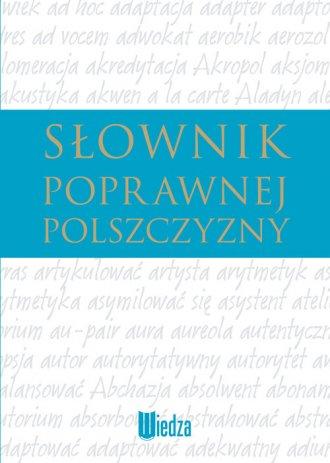 Słownik poprawnej polszczyzny - okładka książki