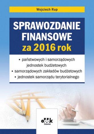 Sprawozdanie finansowe za 2016 - okładka książki