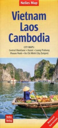 Wietnam Laos Kambodża Mapa 1:1,500 000 - okładka książki