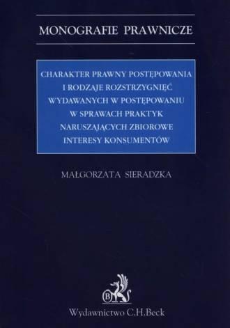 Charakter prawny postępowania i - okładka książki